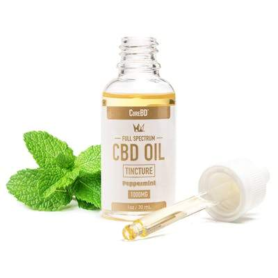 West Coast Cure CureBD Tincture - Peppermint 1000mg - The Balloon Room