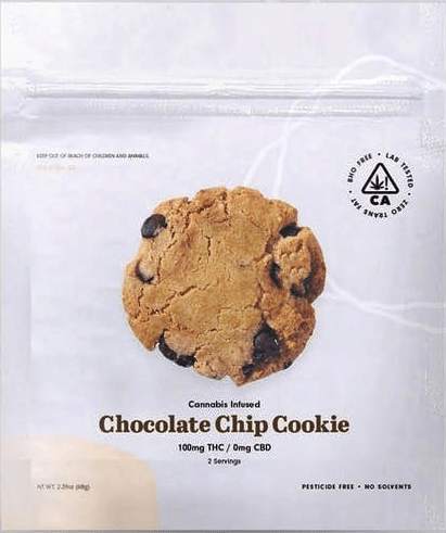 Cookie Factory Chocolate Chip Cookie Edible 100mg - The Balloon Room