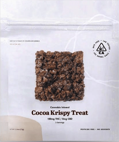 The Cookie Factory Cocoa Krispies Cereal Treat Edible 100mg - The Balloon Room