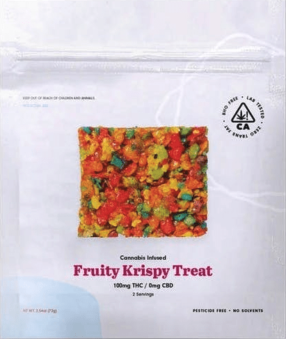 The Cookie Factory Fruit Krispies Cereal Treat Edible 100mg - The Balloon Room