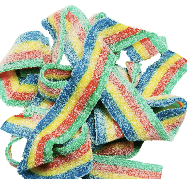 Angels Treats Gummy Edibles - Sour Rainbow Belts - The Balloon Room