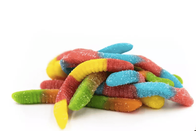 Angels Treats Gummy Edibles - Sour Worms - The Balloon Room