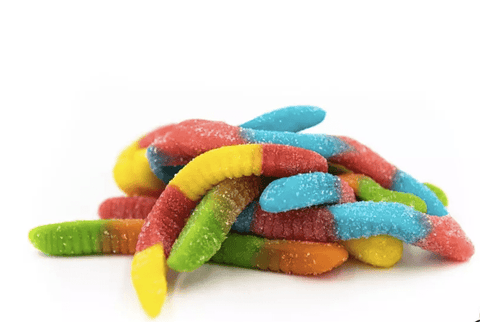 Telio Rainbow Sour Belts Gummy Edible
