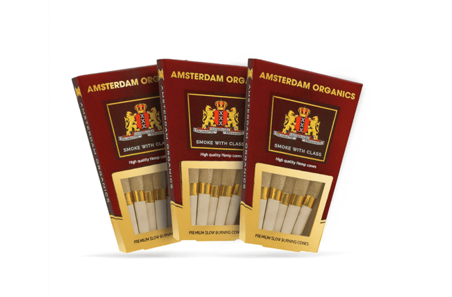 Amsterdam Organics 109mm King Size Hemp Pre Rolled Cones - The Balloon Room