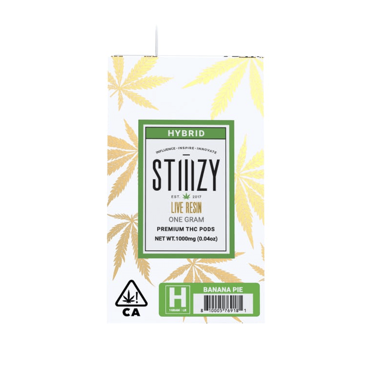 Stiiizy Banana Pie Live Resin THC 1 GRAM POD - The Balloon Room
