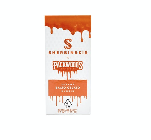 Packwoods Sherbinski Special Edition 2 gram Preroll - Bacio Gelato - The Balloon Room