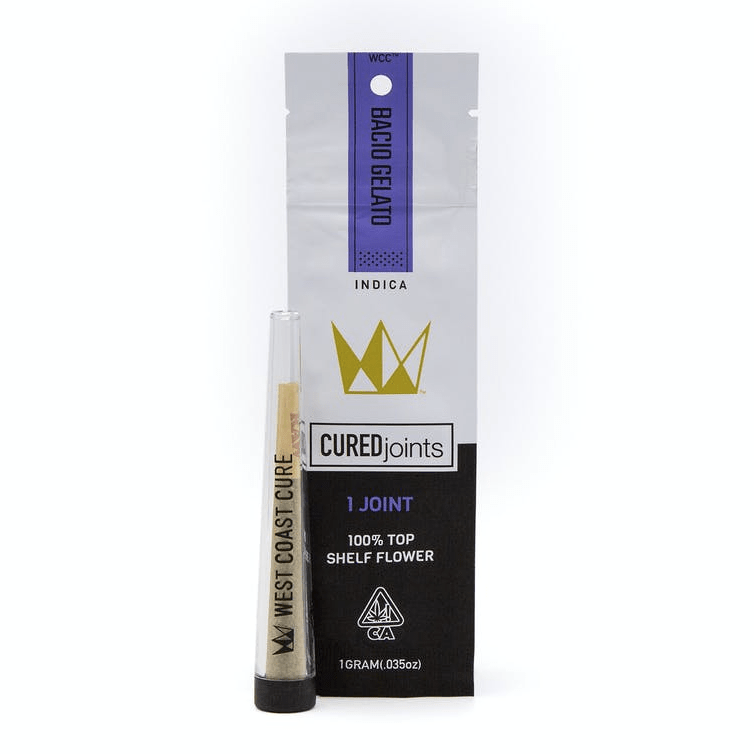 West Coast Cure Cured Joint Pre-Roll - Bacio Gelato - The Balloon Room