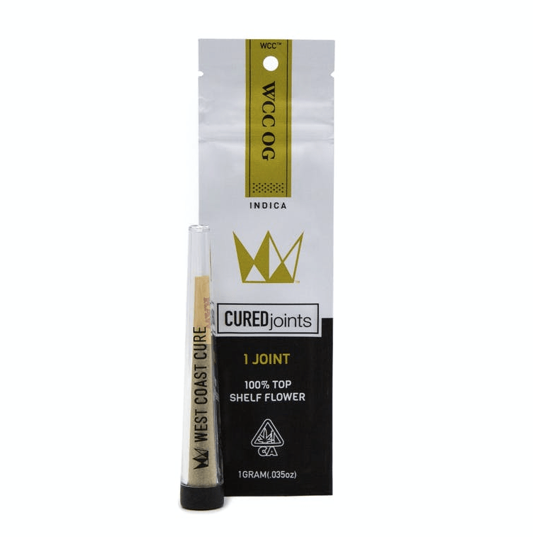 West Coast Cure Cured Joint Pre-Roll - WCC OG - The Balloon Room