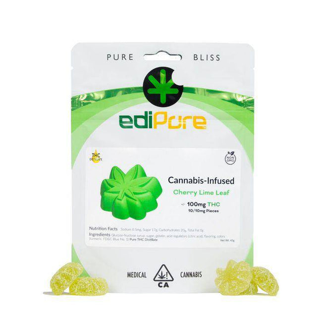 Edipure Gummy Edibles - Cherry Lime Leaf - The Balloon Room