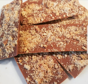 CRUSHED DIGESTIVE MILK CHOCOLATE SLAB