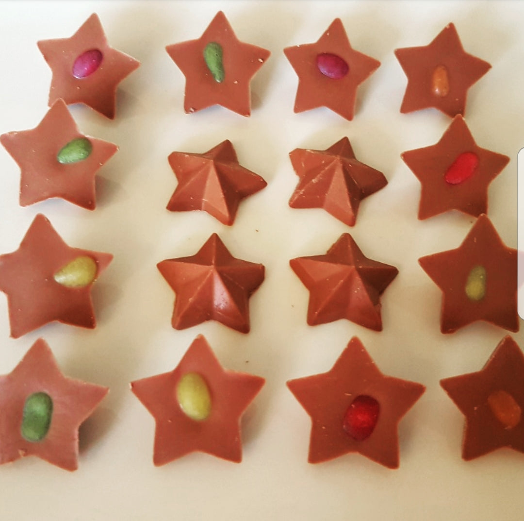 JELLY BEAN MILK CHOCOLATE STAR BITES