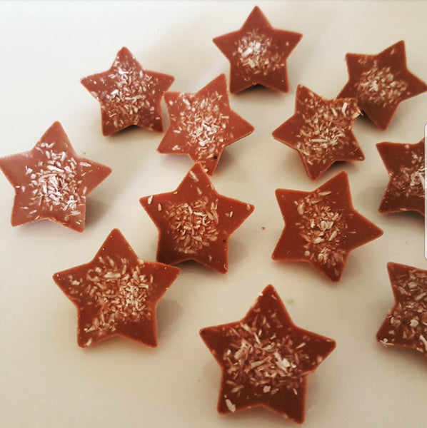 COCONUT MILK CHOCOLATE STAR BITES