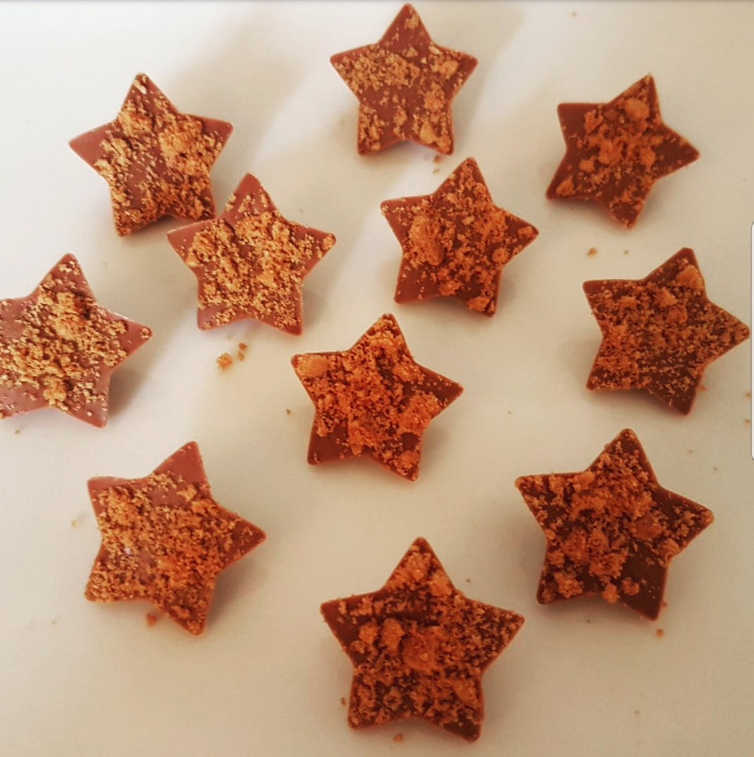 LOTUS BISCOFF MILK CHOCOLATE STAR BITES