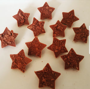 CRUSHED BOURBON MILK CHOCOLATE STAR BITES