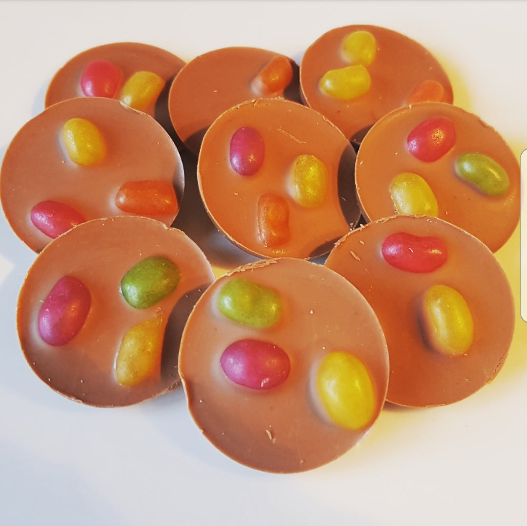 JELLY BEAN MILK CHOCOLATE CIRCLES
