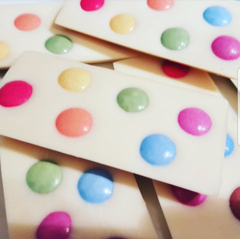 SMARTIES WHITE CHOCOLATE SLAB