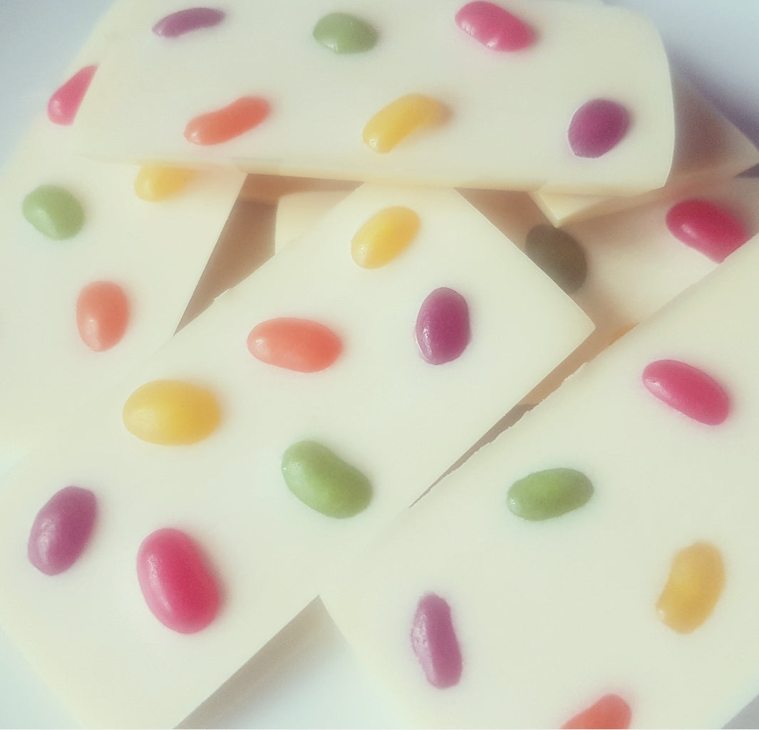 JELLY BEAN WHITE CHOCOLATE SLAB