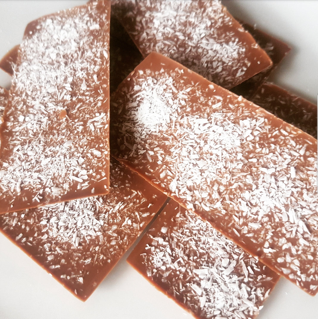 COCONUT MILK CHOCOLATE SLAB
