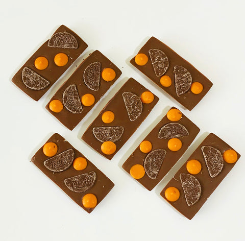 ORANGE MILK CHOCOLATE SLAB