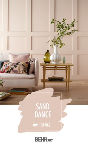 Soft Pink coloured living room