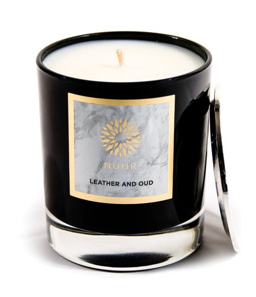 Leather & Oud Luxury Scented Candle - NUHR Home