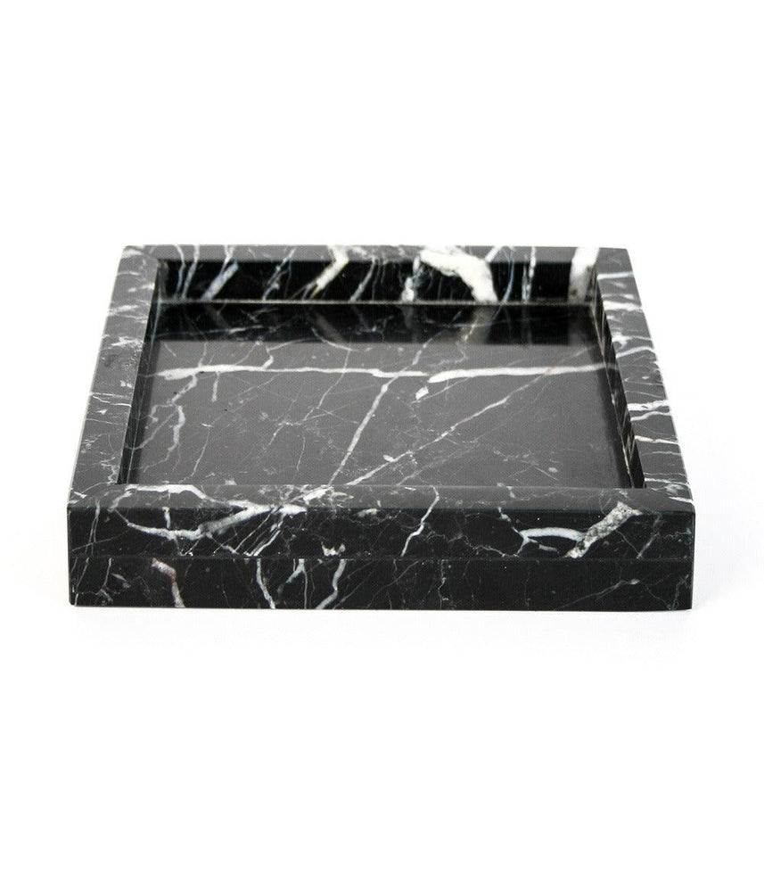 Black Marble Candle Plate