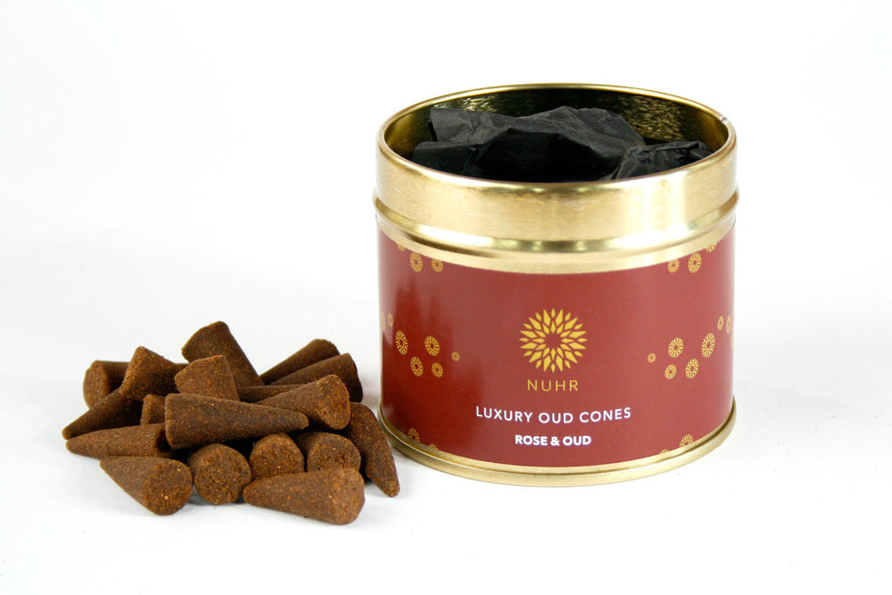 Rose and Oud Incense Cones - NUHR Home
