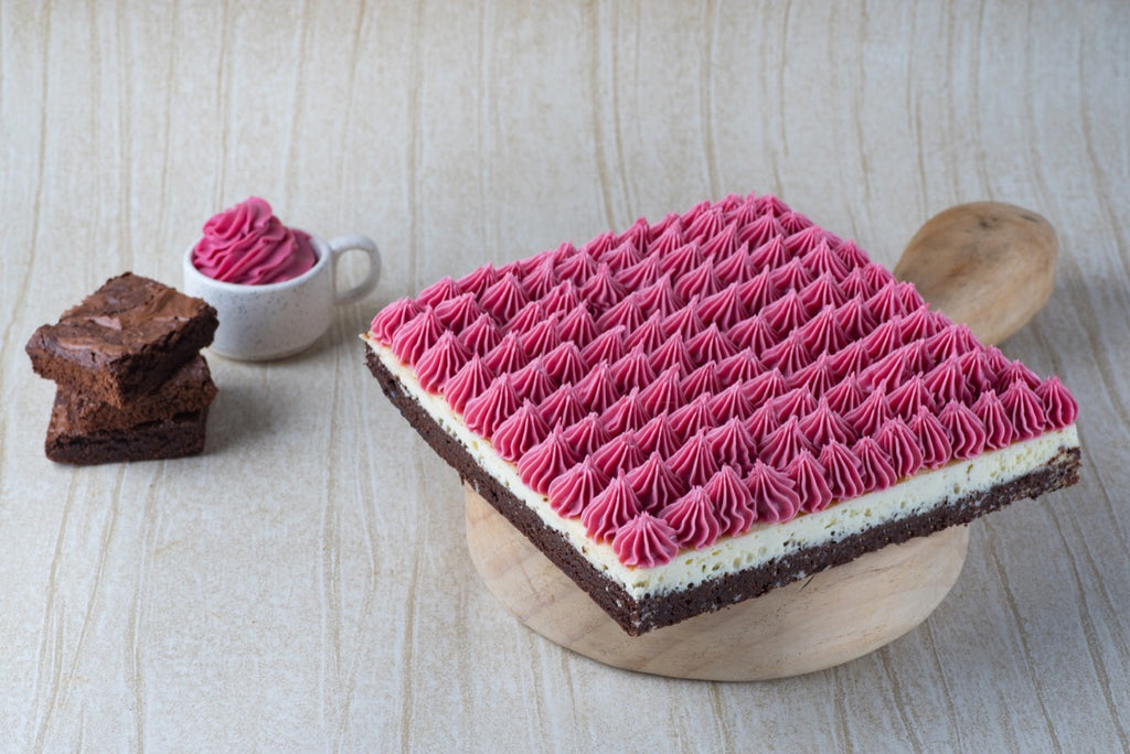 Raspberry Heaven (Raspberry Brownie Cheesecake)