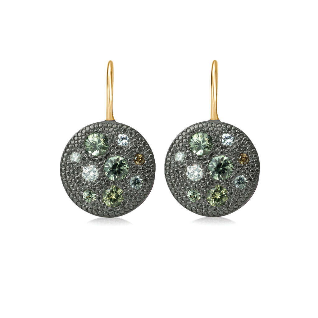 Carmen Green Sapphire Earrings