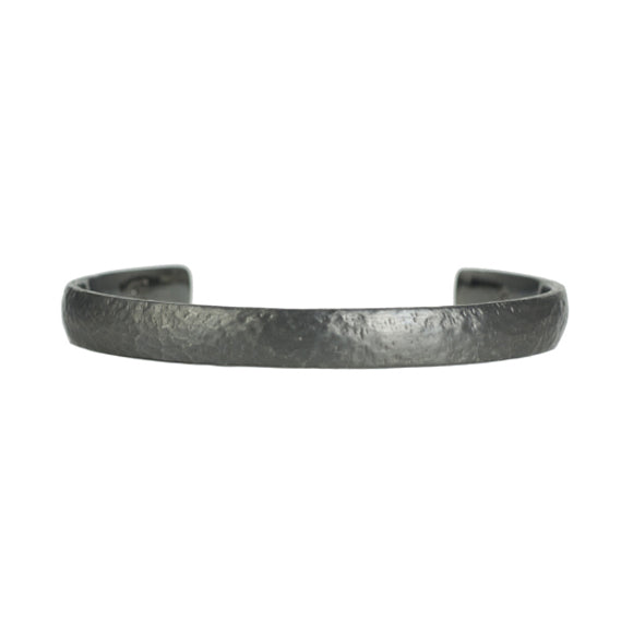 Hammered texture sterling silver cuff bracelet