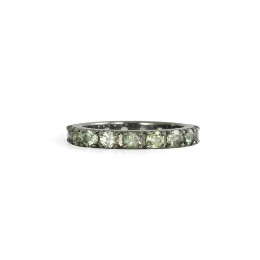 Green Ritha Eternity Rings