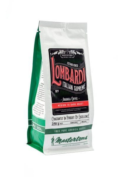 Mopani Pharmacy Household Mastertons Lombardi Italian Supreme, 250g, Filter or Beans
