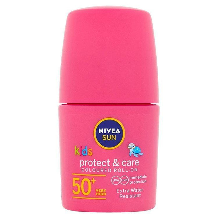 Nivea Toiletries Nivea Kids Protect & Care Pink Roll On SPF50+, 50ml 42360766 235391