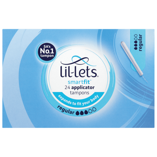 Lil-Lets Toiletries Lil-Lets Tampons Smart-Fit Applicator Regular, 24's 6009508405571 108825
