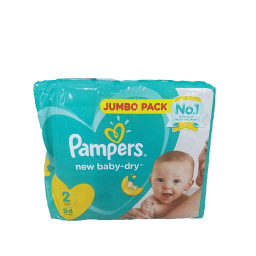Pampers New Baby 2 Mini Nappies, 94's
