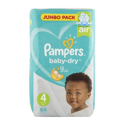 Pampers Active Baby Nappies 4 Maxi, 66's