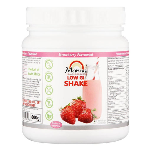 Manna Vitamins Manna Low Gi Shake Strawberry, 600g 6009649480819 126539