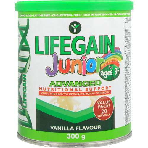 Lifegain Vitamins Lifegain Junior Vanilla, 300g 6009684046841 152020