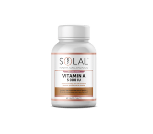 Load image into Gallery viewer, Solal Vitamins Solal Vitamin A 5000 IU Tabs, 120's 600966399190 179310
