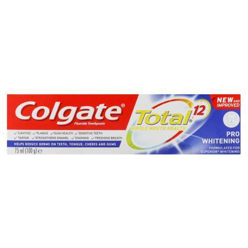 Colgate Toiletries Colgate Toothpaste Total Pro Whitening, 75ml 6920354814310 179328