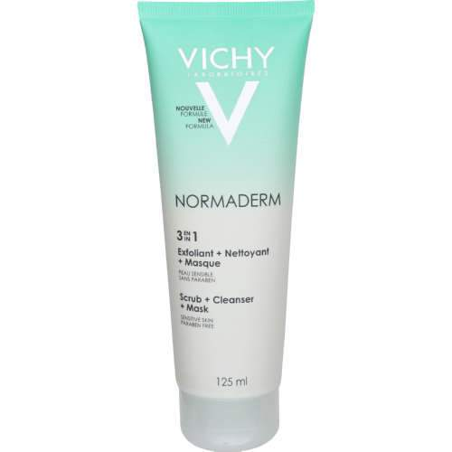 Vichy Beauty Vichy Normaderm 3-in-1 Scrub & Cleanser Mask, 125ml 3337875414067 185975