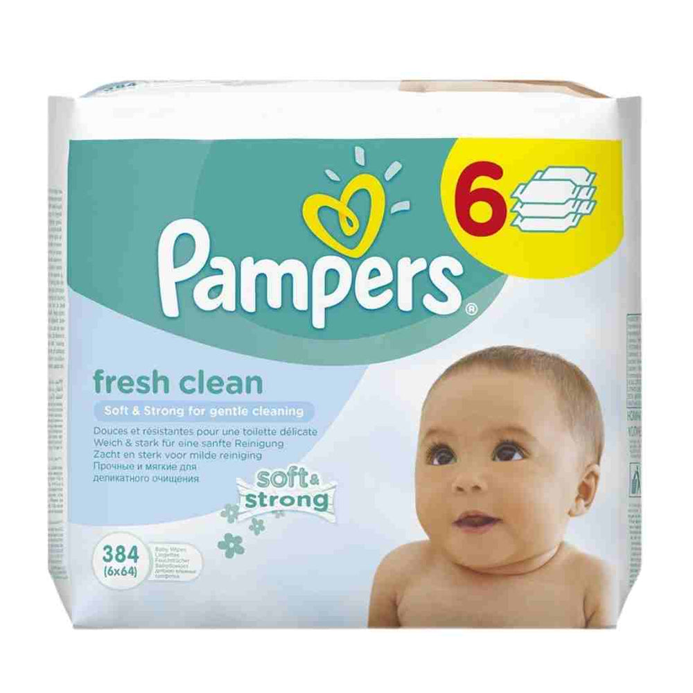 Pampers Baby Wipes Complete Clean, 384's