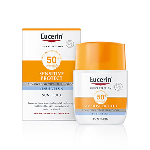 Eucerin Beauty Eucerin Sun Protection Sensitive Protect Sun Fluid Mattifying SPF50+, 50ml 4005800065255 194172