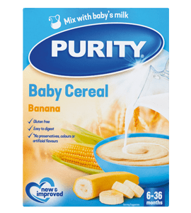 Purity 7-36 Months Cereal Gluten-Free Banana, 450g