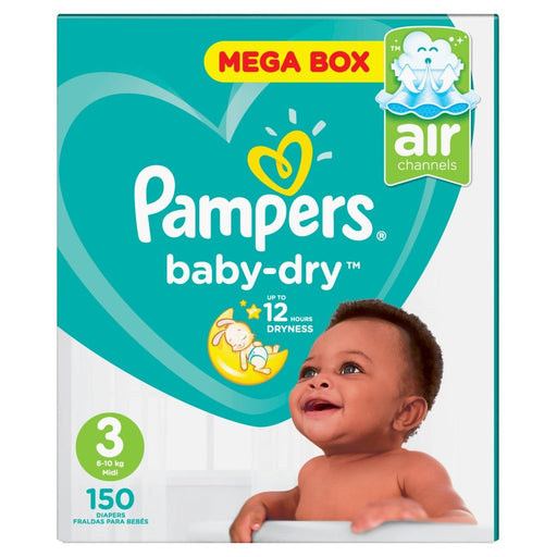 Pampers Baby-Dry Mega Box Nappies 3, 150's