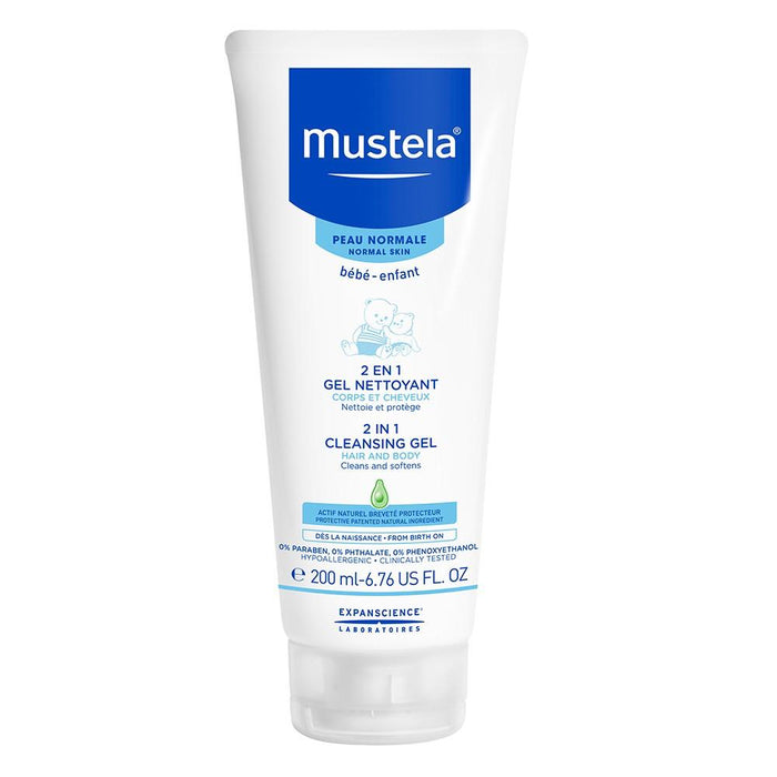 Mustela 2-in-1 Cleansing Gel, 200ml