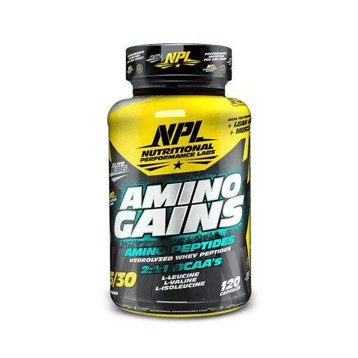 NPL Sports Nutrition NPL Amino Gains Caps, 120's 6009708880505 223613