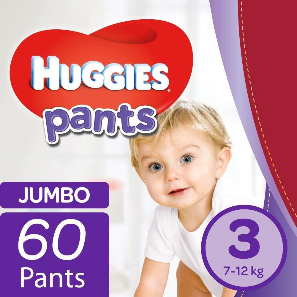 Mopani Pharmacy Baby Huggies Pants Jumbo Size 3 60's 6001019911183 224183