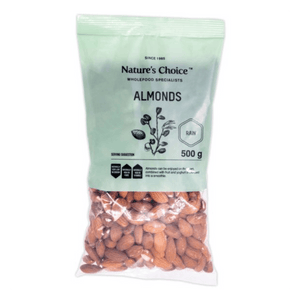 Mopani Pharmacy Health Foods Nature's Choice Almonds, 500g 6007732032785 225510