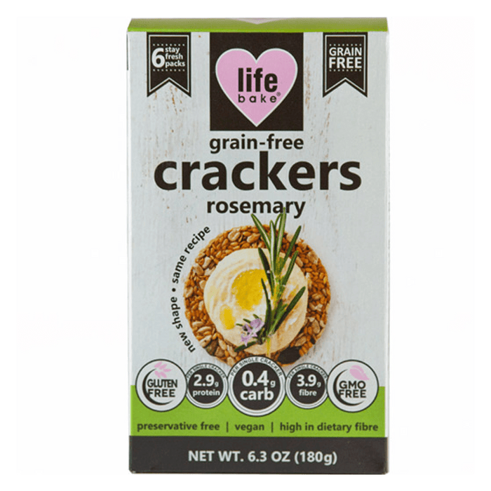 Nature's Choice Life Bake Grain Free Crackers Rosemary, 180g